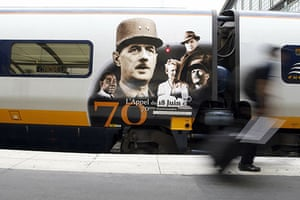 Resistance anniversary: Eurostar train painted with images of Charles De Gaulle