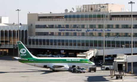 Baghdad international airport in Iraq