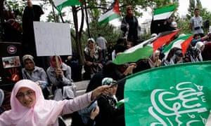 Gaza flotilla protest in Turkey