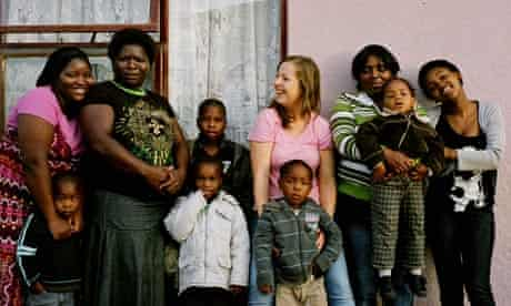 Anna Kessel with the Mfuniselo family