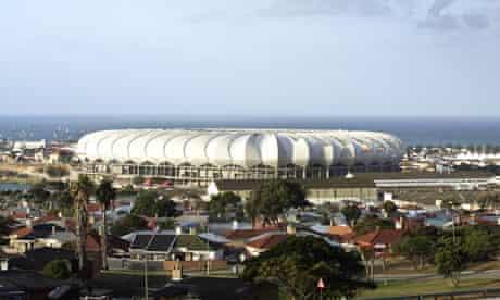 The Nelson Mandela Bay stadium in Port Elizabeth, South Africa.