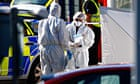 A police forensics team in Whitehaven, Cumbria