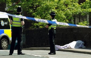 Whitehaven shootings: Victims lie in the road in Egremont