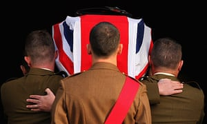 The Funeral Takes Place Of Corporal Thomas Mason Killed In Afghanistan