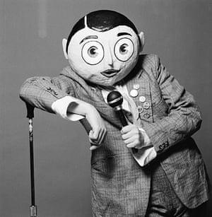 Frank Sidebottom: 1988: A studio portrait of Frank Sidebottom