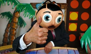 Comedian and musician Chris Sievey as Frank Sidebottom