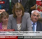Harriet Harman, the acting Labour leader, responds to the budget on 22 June 2010.