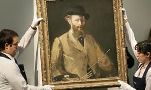 Edouard Manet's Self-portrait With a Palette, which sold for £22m at Sotheby's in London