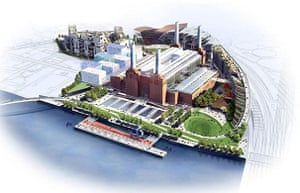 Battersea power station: 2005: An artist's impression of redeveloped Battersea power station