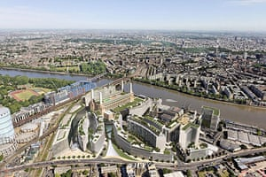 Battersea power station: 2009: Artist's impression of a scheme to redevelop Battersea Power Station