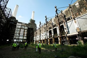 Battersea power station: 2007: Photographers inside Battersea Power Station.
