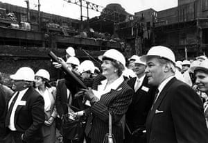Battersea power station: 1988: Prime Minister Margaret Thatcher unveils plans