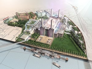 Battersea power station: 2001: A design for a permanent performance home for the Cirque du Soleil