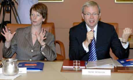 Australian PM Kevin Rudd and Julia Gillard