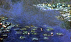 A detail from Nympheas, a 1906 painting by Claude Monet