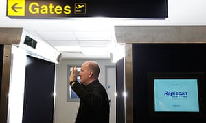 Body scanner Manchester airport