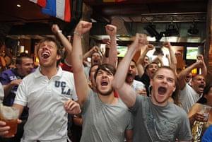 England fans: Liverpool, UK: England fans watch the World cup match