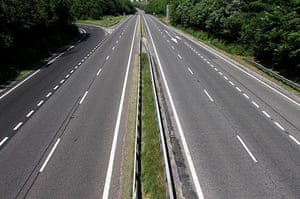 England fans: Devon, UK: The empty A38 between Exeter and Plymouth