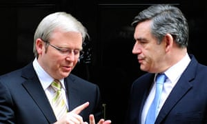 Gordon Brown and Kevin Rudd