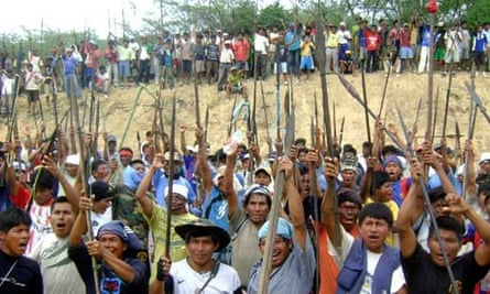 Native people protest in Bagua province June 2009