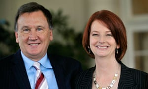 Julia Gillard and partner Tim Mathieson