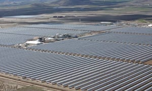 Andasol 1 in southern Spain, the world's largest solar power plant