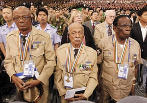 Korean War anniversary: Korean War veterans from Suriname participate in a ceremony in Seoul