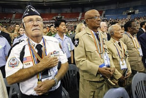 Korean War anniversary: Korean War veterans participate in a ceremony in Seoul