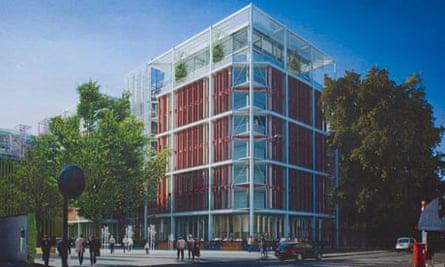 Artist's impression of Chelsea barracks proposal