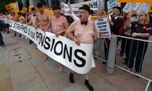 UK pensioners protesting