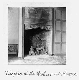 Hancox House: The parlour fireplace at Hancox