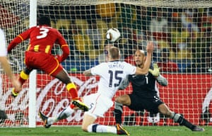 Knockout stages day 1: Asamoah Gyan scores Ghana's second and winning goal