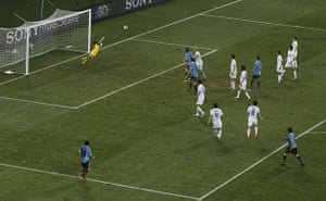 Knockout stages day 1: Luis Suarez scores his, and Uruguay's second
