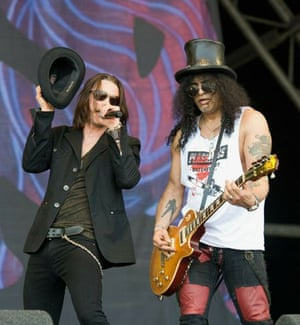 Bands of the day: Myles Kennedy and Slash perform on The Pyramid Stage