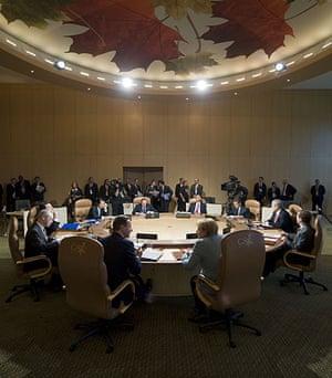 David Cameron at G8: Prime Minister David Cameron and German Chancellor Angela Merkel