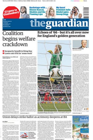 World Cup front pages: The Guardian
