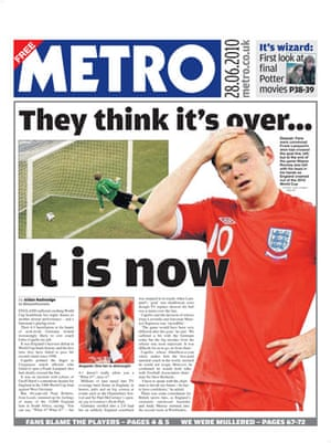 World Cup front pages: Metro