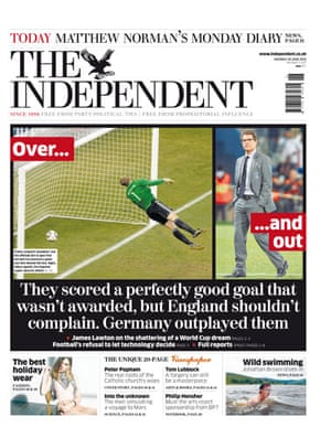 World Cup front pages: The Independent