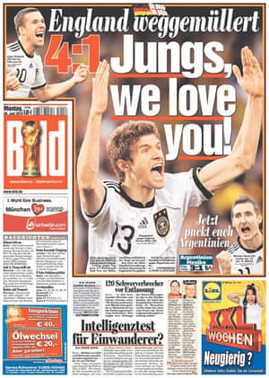 World Cup front pages: Bild