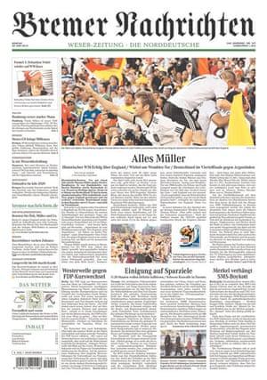 World Cup front pages: Bremer Nachrichten