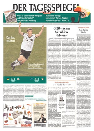 World Cup front pages: Der Tagesspiegel