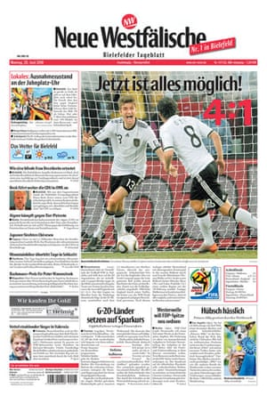 World Cup front pages: Neue westfalische