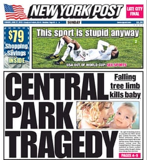 World Cup front pages: New York Post