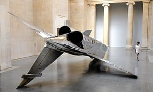 A Sepecat Jaguar fighter jet, part of Fiona Banner's exhibition at Tate Britain