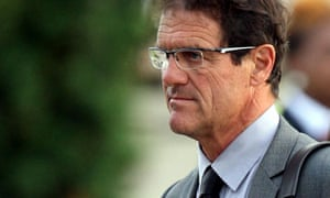 England manager Fabio Capello arrives at Heathrow Airport