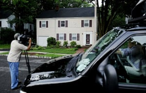 Russian spy ring: Media stand in front of a house at 31 Marquette Road in New Jersey