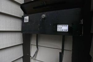 Russian spy ring: The mailbox outside the residence of Donald Howard Heathfield