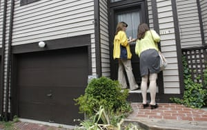Russian spy ring: Reporters examine the mailbox outside the home of Donald Howard Heathfield