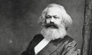 German Political Philosopher Karl Marx Sitting