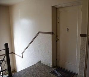 Russian spy ring: Stairway leading to apartment 15N at 1505 N Quinn St in Arlington Virginia
